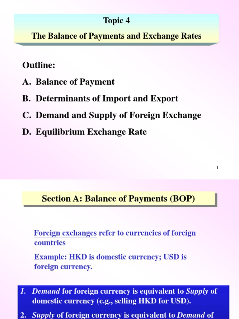 bop and exchange rate