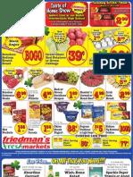 Friedman's Freshmarkets - Weekly Specials - March 14 - 20, 2013