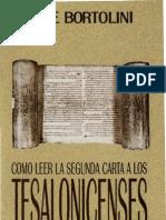 Bortolini_ Jose - Como Leer La Carta 2 a Los Tesalonicenses