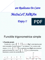 Prezentarea Unor Functii Trigonometrice