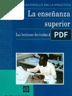 Banco Mundial, 1994-La enseñanza superior. Las lecciones derivadas de la experiencia