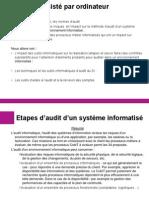 COURS MSI AUDIT 2012 510 Audit Assiste Ordinateur