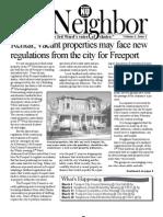 The Neighbor Issue 1