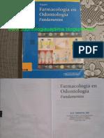 Farmacologia en Odontologia - Tripathi