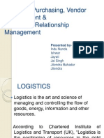 Logistics ,Purchasing, Vendor Management &
