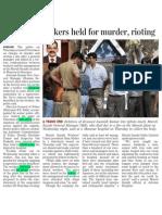 91 Maruti Workers Held for Murder, Rioting