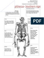 master australopithecus detailed input
