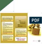 Nissan Gold Cover Leaflet