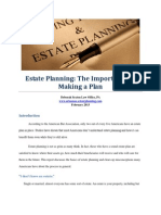 Estate Planning the Importance of Making a Plan