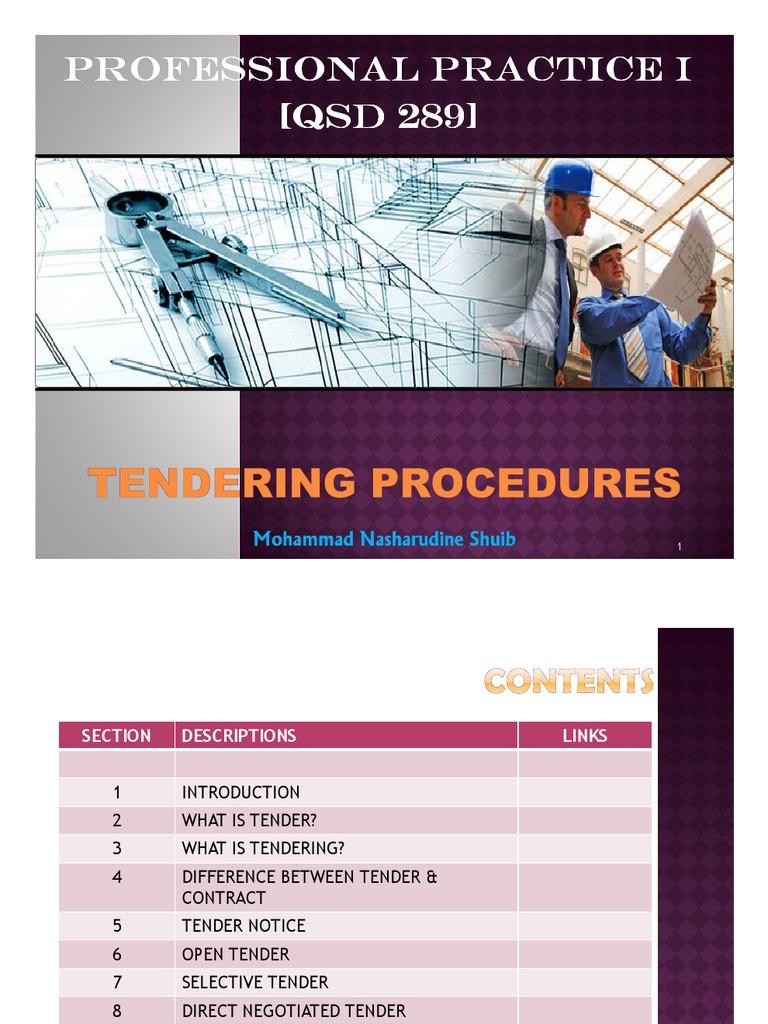 Microsoft PowerPoint - Chapter 7 - Tendering Procedures ppt