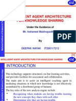 INTELLIGENT AGENT ARCHITECTURE FOR KNOWLEDGE SHARING