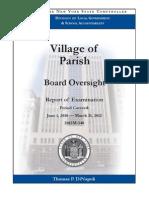 Village of Parish audit