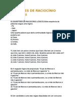 QUESTÕES DE RACIOCÍNIO LÓGICO II.doc