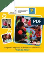"""Folleto informativo del Programa de Educación Temprana """"Familia Feliz"""""""