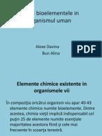 Apa Si Bioelementele in Organismul Uman