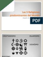 Las 5 Religiones Predominantes