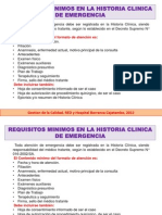 Requisitos Minimos Para La Historia Clinica Emergencia