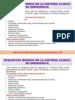 Requisitos Minimos Para La Historia Clinica Emergencia