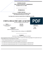 China Healthcare Acquisition Corp. 8-K (Events or Changes Between Quarterly Reports) 2009-02-23