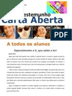 Carta Aberta - Acreditar - Testemunho Raquel Cunha