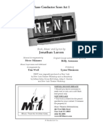 Rent, The Musical (PC Score Act 1)