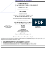 IBIS TECHNOLOGY CORP 8-K (Events or Changes Between Quarterly Reports) 2009-02-23