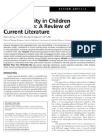 Motor Activity in Children With Autism a Review.2