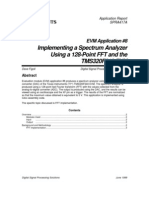 SPRA417A EVM Application 8 Implementing a Spectrum Analyzer Using a 128 Point FFT