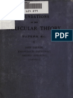 Dalton Gay Lussac Avogadro Foundations Molecular Theory 1893