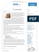 Blog da Qualidade - Análise crítica de certificados
