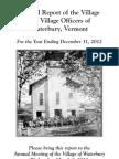Waterbury Village Report 2012