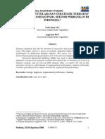 K-Amen 02 Pengaruh Penyelarasan Strategik Terhadap Kinerja Organisasi Pada Sektor Perbankan Di In