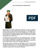 Gutenberg Ou l 'Aventure de l' Imprimerie