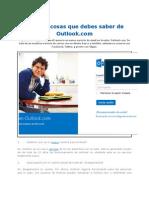 Las Diez Cosas Que Debes Saber de Outlook.com