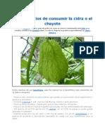 Los Beneficios de Consumir La Cidra o El Chayote