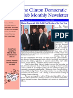 Clinton Democratic Club February 2013 Newsletter
