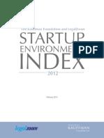 Kauffman/LegalZoom Startup Environment Index 2012