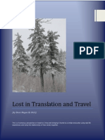 Lost in Translation and in Travel