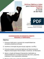 Politicas Publicas e Acoes Para o Desenvolvimento Regional Do Estado de Sao Paulo 121004134546 Phpapp01