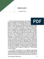 01.Alejandro G. Vigo, Presentación