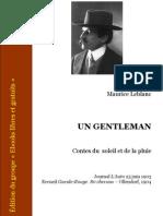 Maurice Leblanc - 1903 - Un Gentleman Contes Du Soleil Et de La Pluie