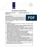 Economic Analysis of Social Policy