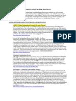 Undergraduate Journals List 2