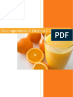 Vitamin C Chemistry Coursework