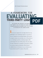 A Framework for Evaluating 3PL