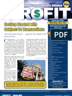 The Profit Newsletter for Atlanta REIA - March 2013