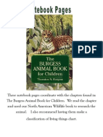 The Burgess Animal Book Notebook Pages