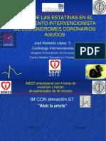 Estatinas en el tratamiento intervencionista de los sindromes coronarios agudos