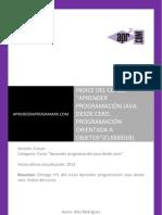 CU00601B Indice Curso Aprender Programar Java Desde Cero