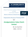 Report of organisation structure training